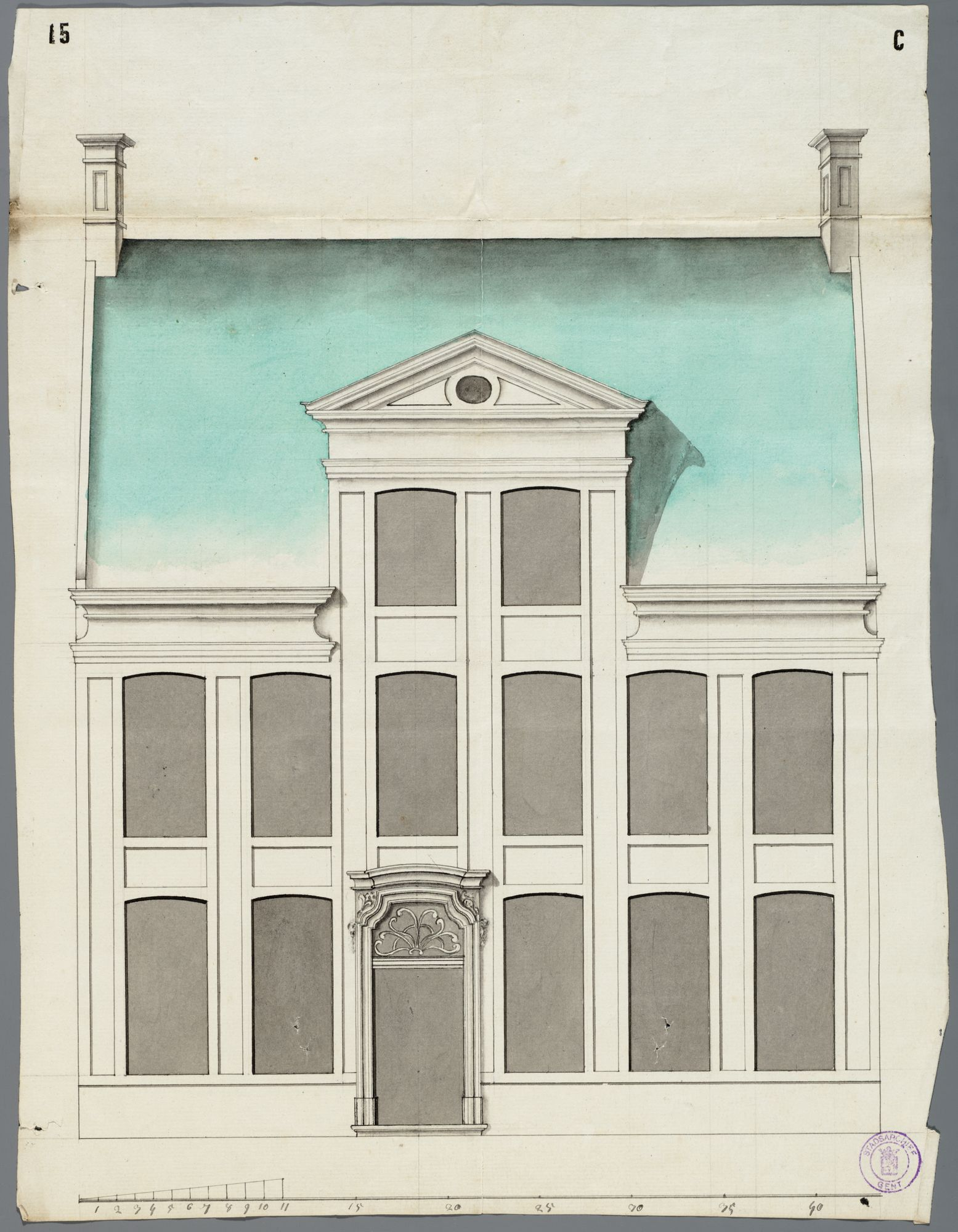 Gent: Nederpolder, 1769: opstand gevel
