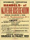 Openbare verkoop van een handels- of nijverheidseigendom te Gent, Meulestedekaai, nr.20-A, (kanaal Gent-Terneuzen), Gent, 24 maart 1959