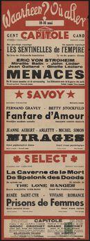 Waarheen? Où aller? Filmvertoningen in Capitole, Savoy, Select, Gent, 10 - 16 mei 1940