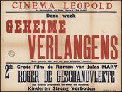 Geheime verlangens (film 1), Roger de geschandvlekte (film 2), Cinema Leopold, Gent, juli 1949