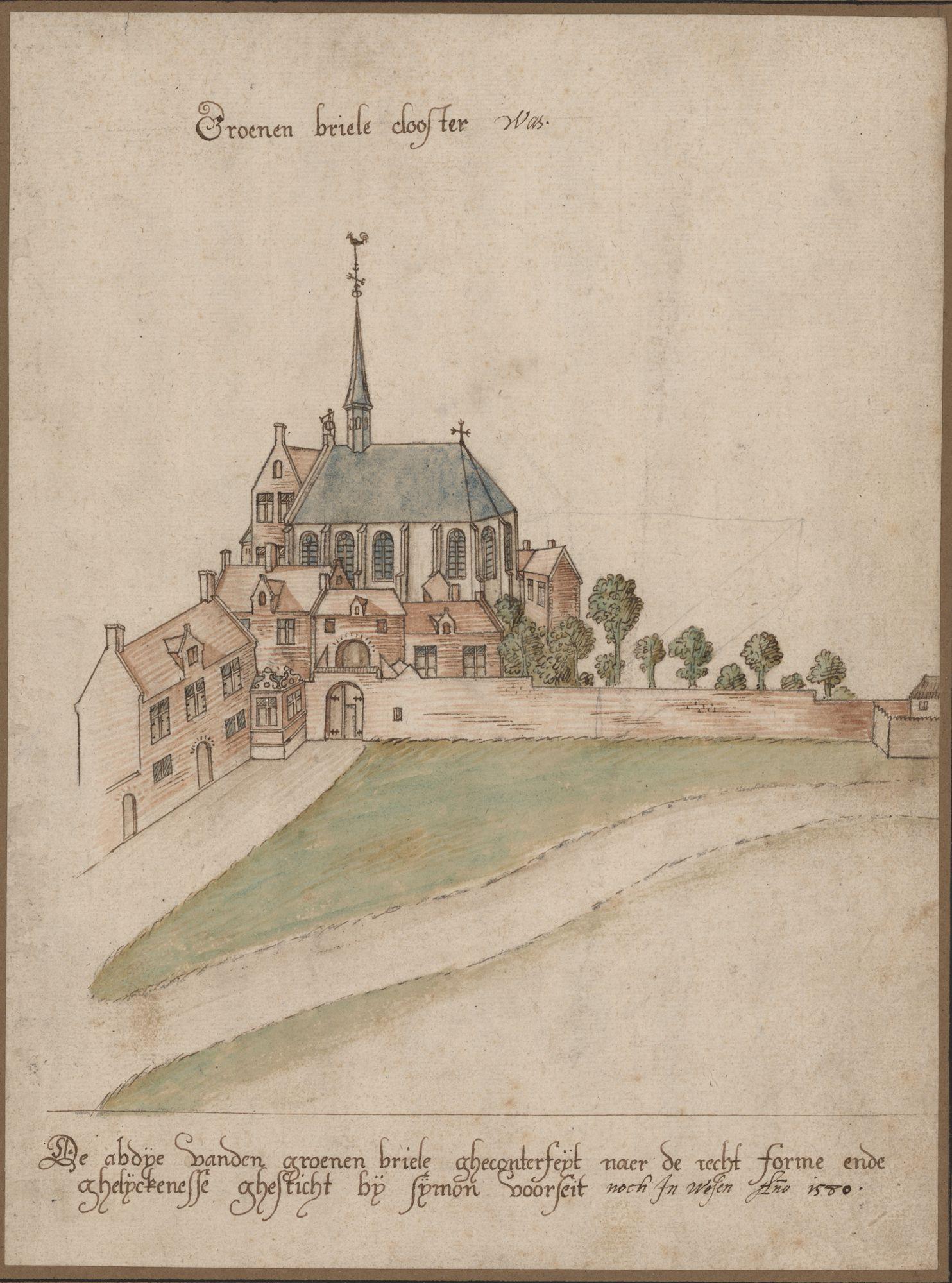 Gent: Groenebriel: Groenenbrielabdij, voor 1580