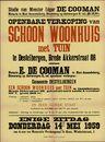 Openbare verkoop van schoon woonhuis met tuin te Destelbergen, Brede Akkerstraat, nr.88, Gent, 14 mei 1959