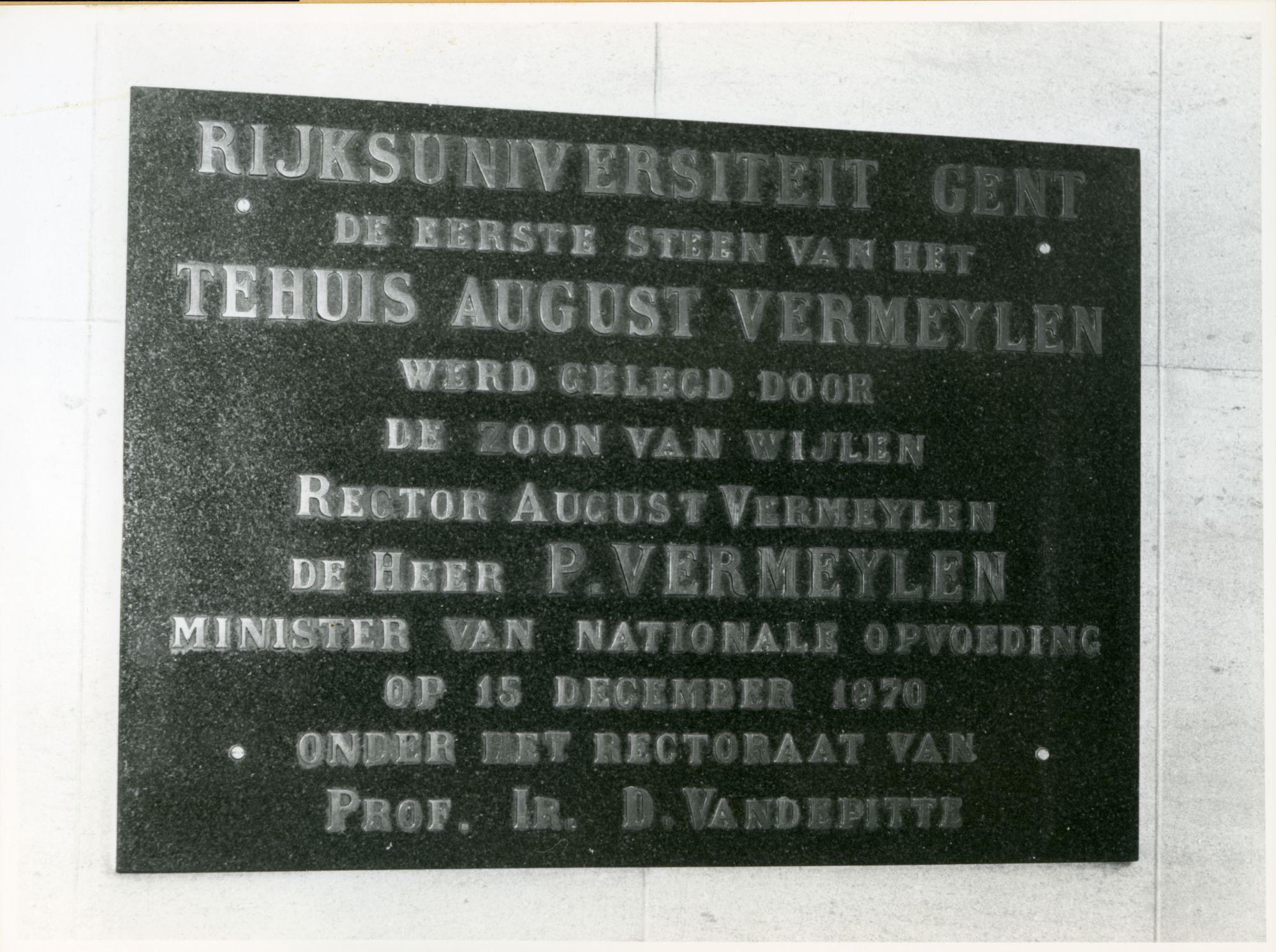 Gent: Stalhof: Gedenksteen, 1979
