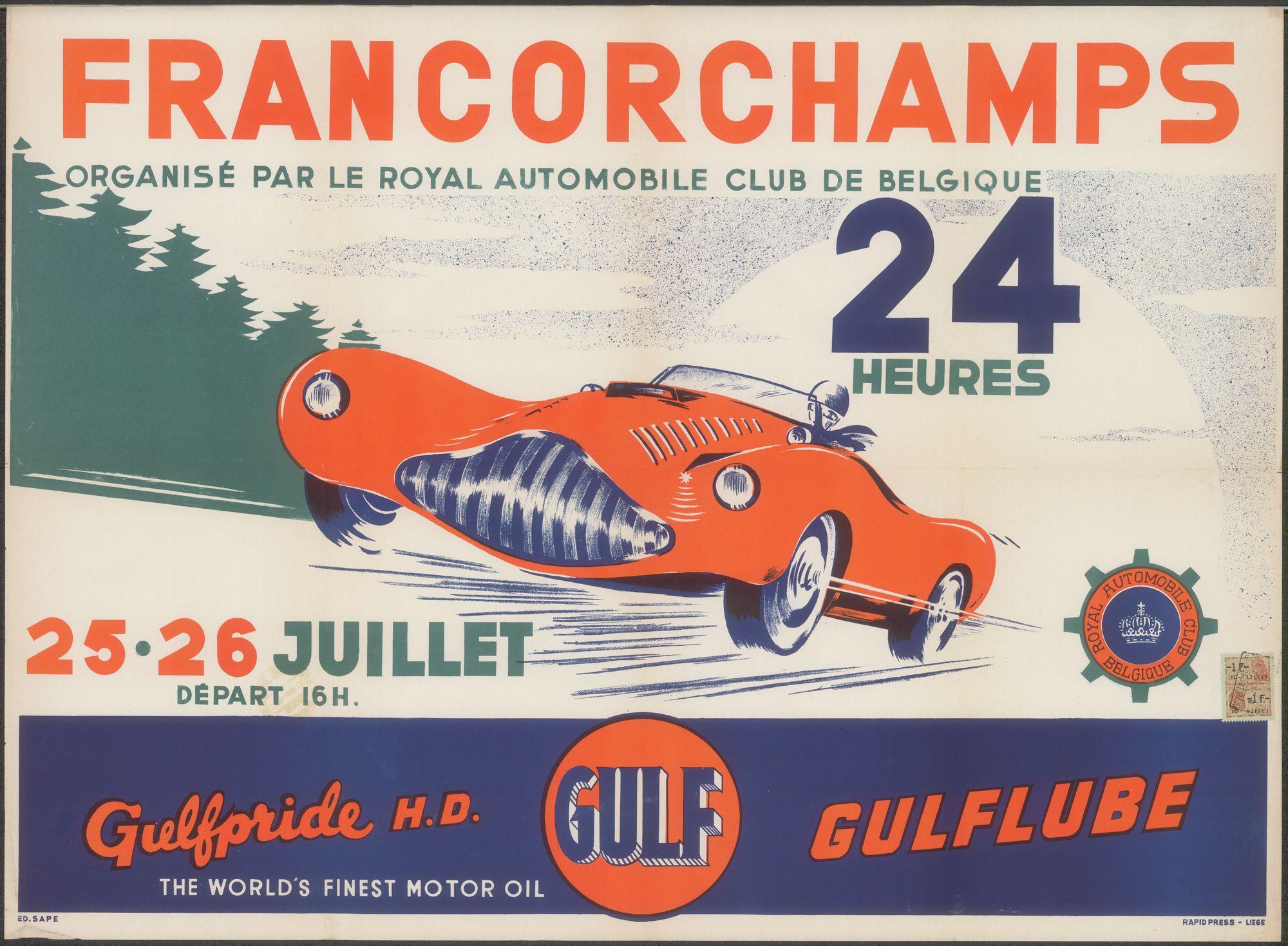 24 Heures de Francorchamps, SPA - Francorchamps, 25 - 26 juillet - juli 1953