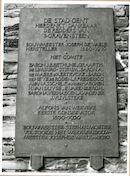 Gent: Geldmunt: Gravensteen: gedenkplaat, 1980