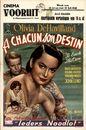 A Chacun son Destin   Ieders Noodlot   To Each His Own, Cinema Vooruit, Gent, 23 - 29 juli 1948