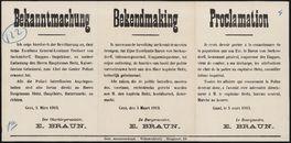Bekanntmachung | Bekendmaking | Proclamation.