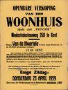 """Openbare verkoop van een woonhuis zijnde café """"Prinsor"""" Meulestedsesteenweg, nr.259 te Gent, 23 april 1959"""