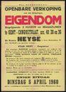 Openbare verkoop van een welgelegen eigendom begrijpende 2 huizen en magazijnen te Gent - Congostraat, nrs. 40, 38, en 36, Gent, 5 april 1960