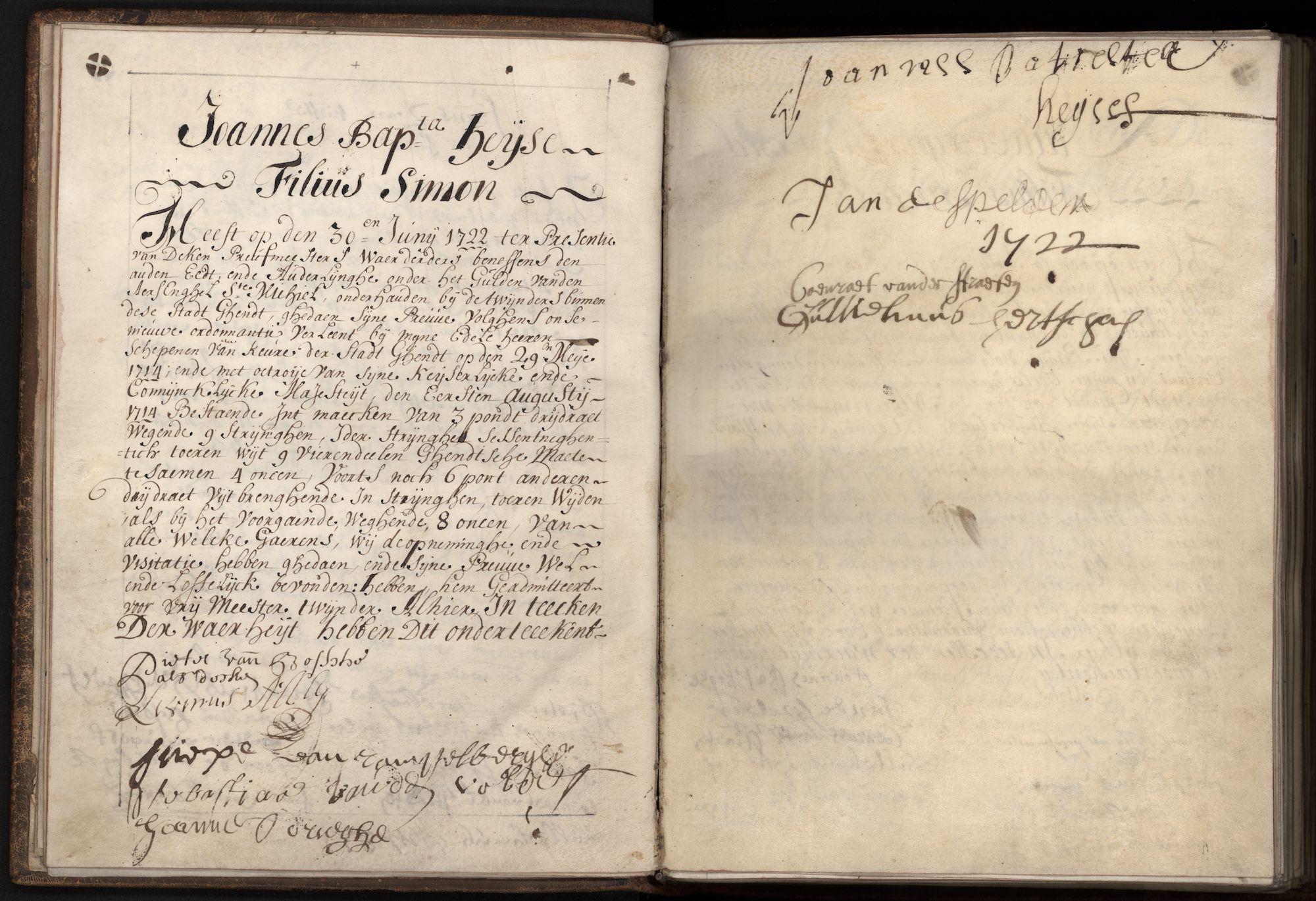 Ambachtsregister van de twijnders (garentwijnders), 1717-1795