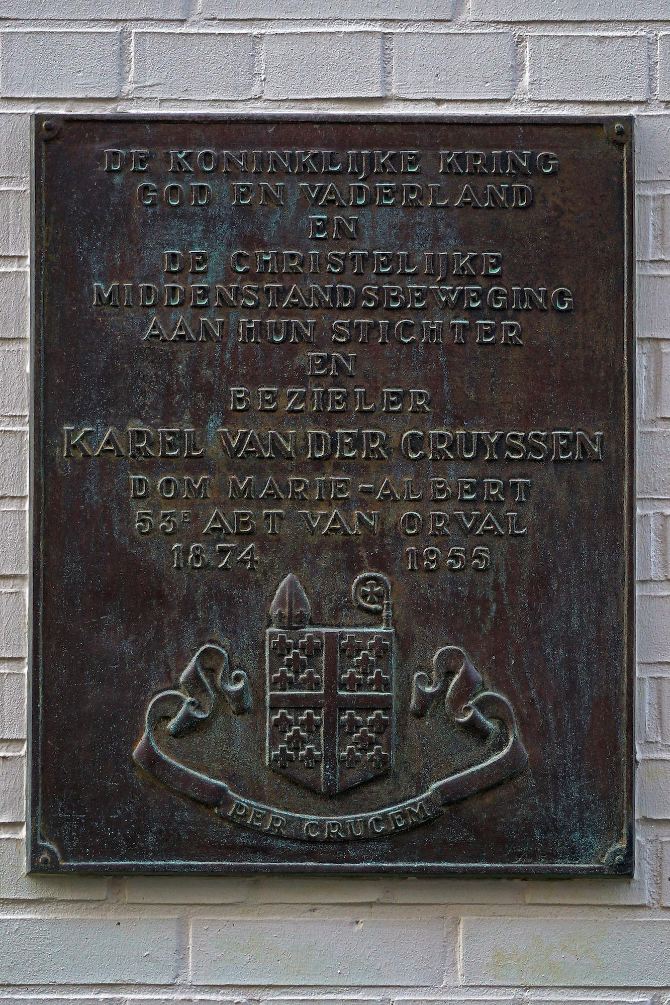 Gedenkplaat - Karel Van der Cruyssen