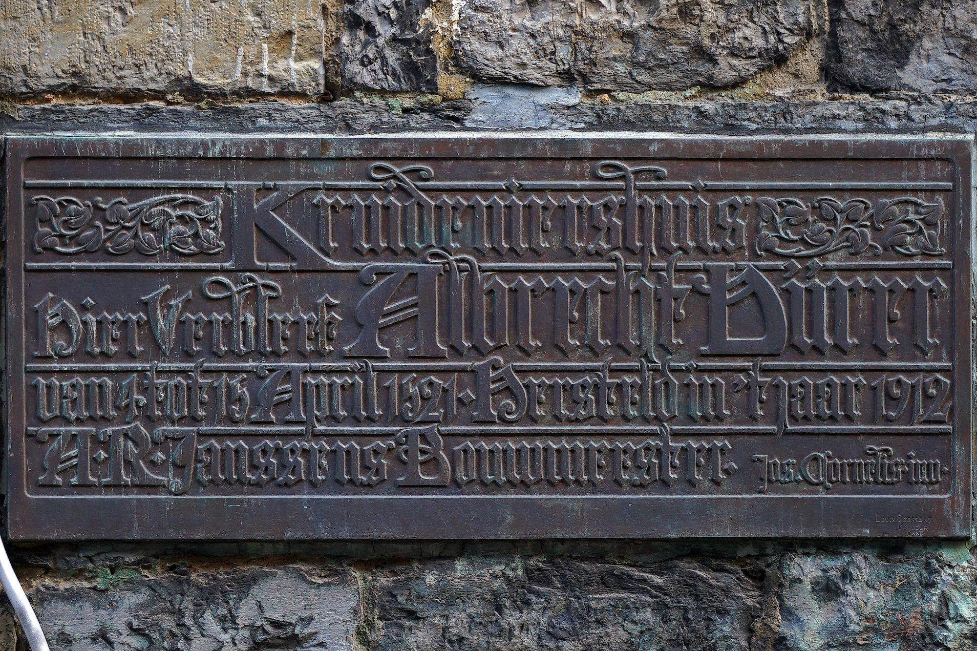 Gedenkplaat - Albrecht Dürer