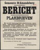 Gemeente St-Amandsberg, Bericht, Plakbrieven.