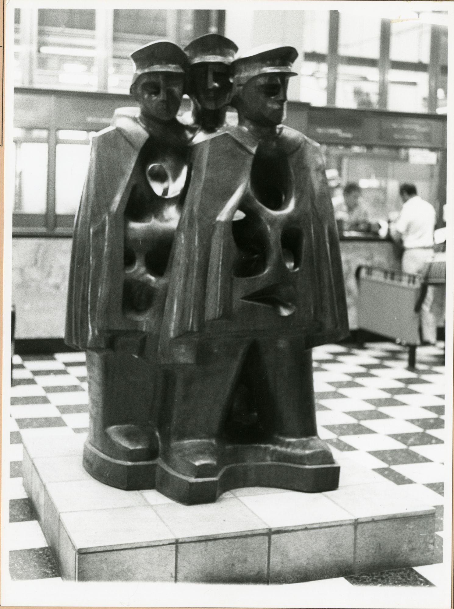 Gent: Korenmarkt: Standbeeld, 1980