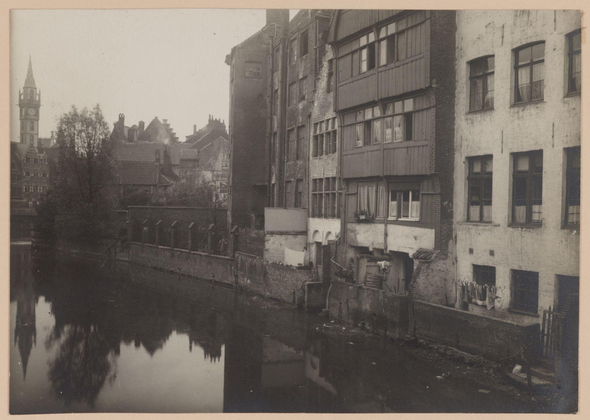 Gent: De Lieve en de achtergevels van de Jan Breydelstraat