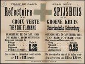 Ville de Gand, Réfectoire de la Croix Verte, Theatre flamand   Stad Gent, Spijshuis van het Groene Kruis, Nederlandsche Schouwburg.