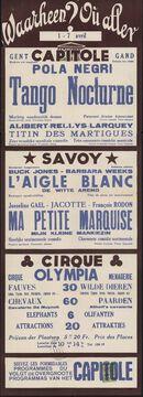 Waarheen? Où aller? Filmvertoningen in Capitole, Savoy, Gent, 1 - 7 april 1938