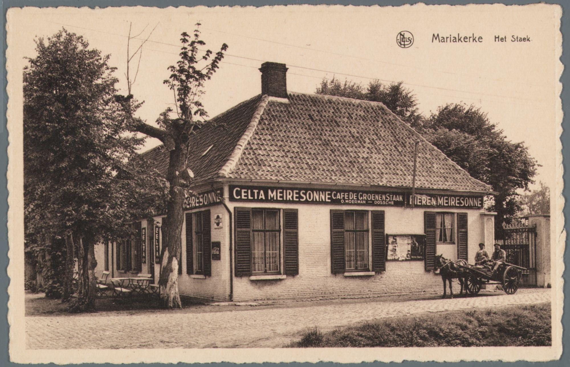 Mariakerke (bij Gent): café De Groenen Staak