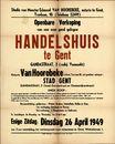 Openbare verkoop van een zeer goed gelegen handelshuis te Gent, Gandastraat, nr.3, Gent, 26 april 1949