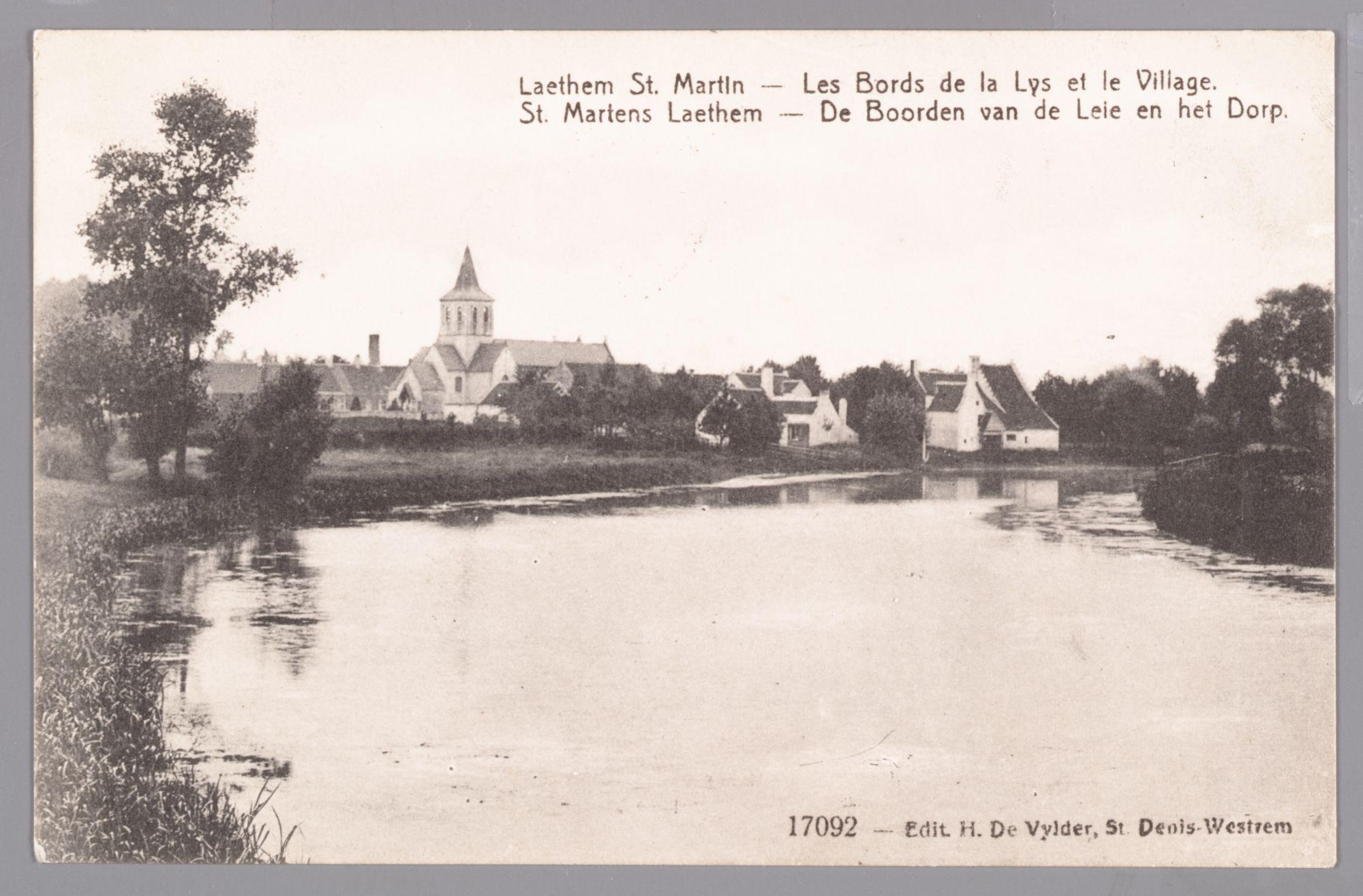 Sint-Martens-Latem: zicht op de Leie en het dorp