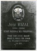 Gent: Henegouwenstraat 21-39: gedenkplaat: Jose Rizal