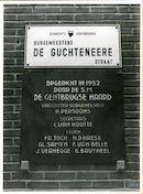 Gentbrugge: BurgemGentbrugge:  De Guchteneerestraat 6: Gedenkplaat, 1979