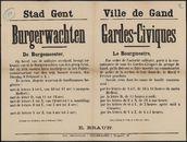 Stad Gent, Burgerwachten | Ville de Gand, Gardes-Civiques.
