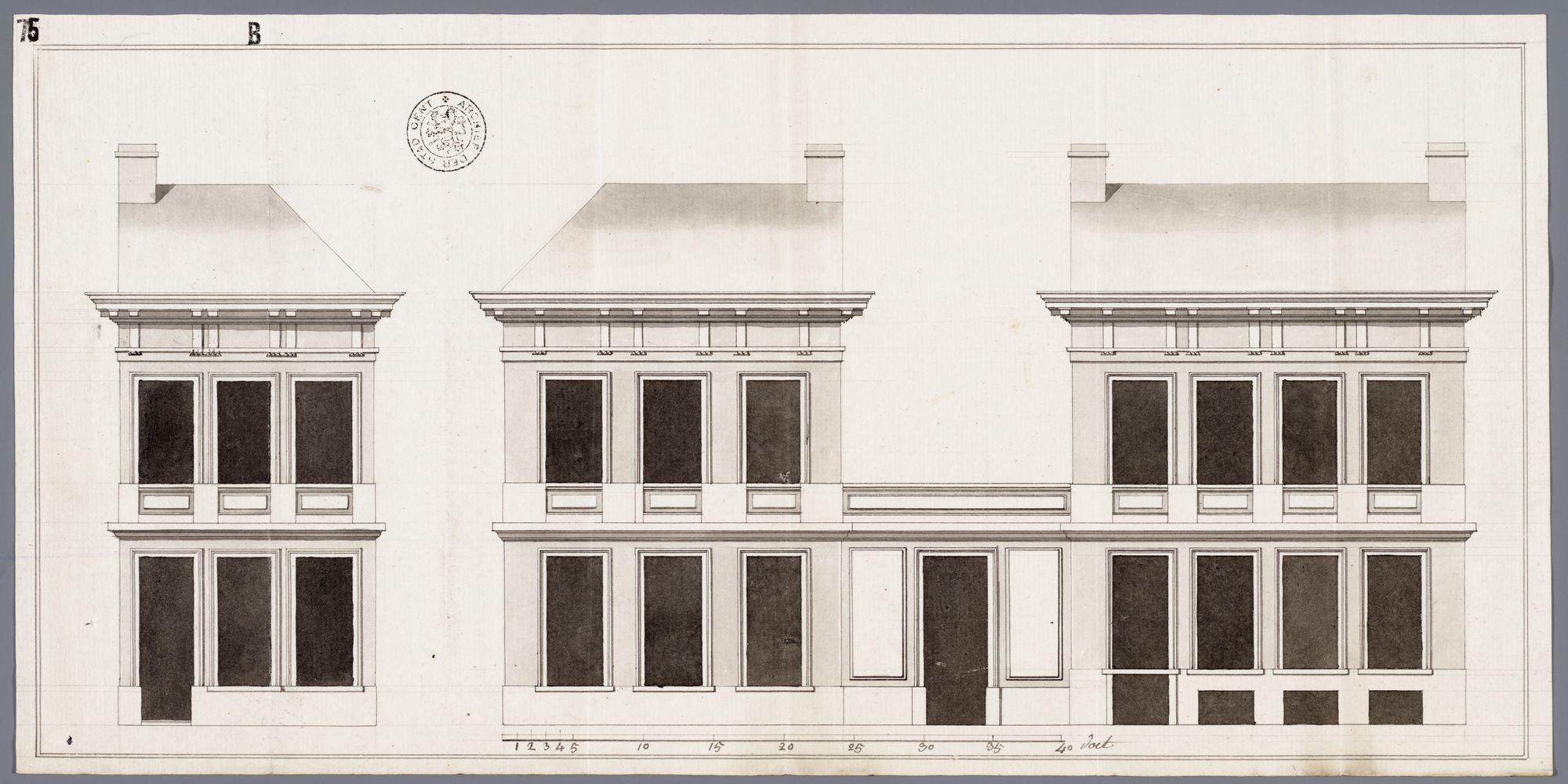 Gent: Brabantdam, 1791: opstand gevels