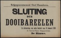 Krijgsgouvernement Oost-Vlaanderen, Sluiting der dooibareelen