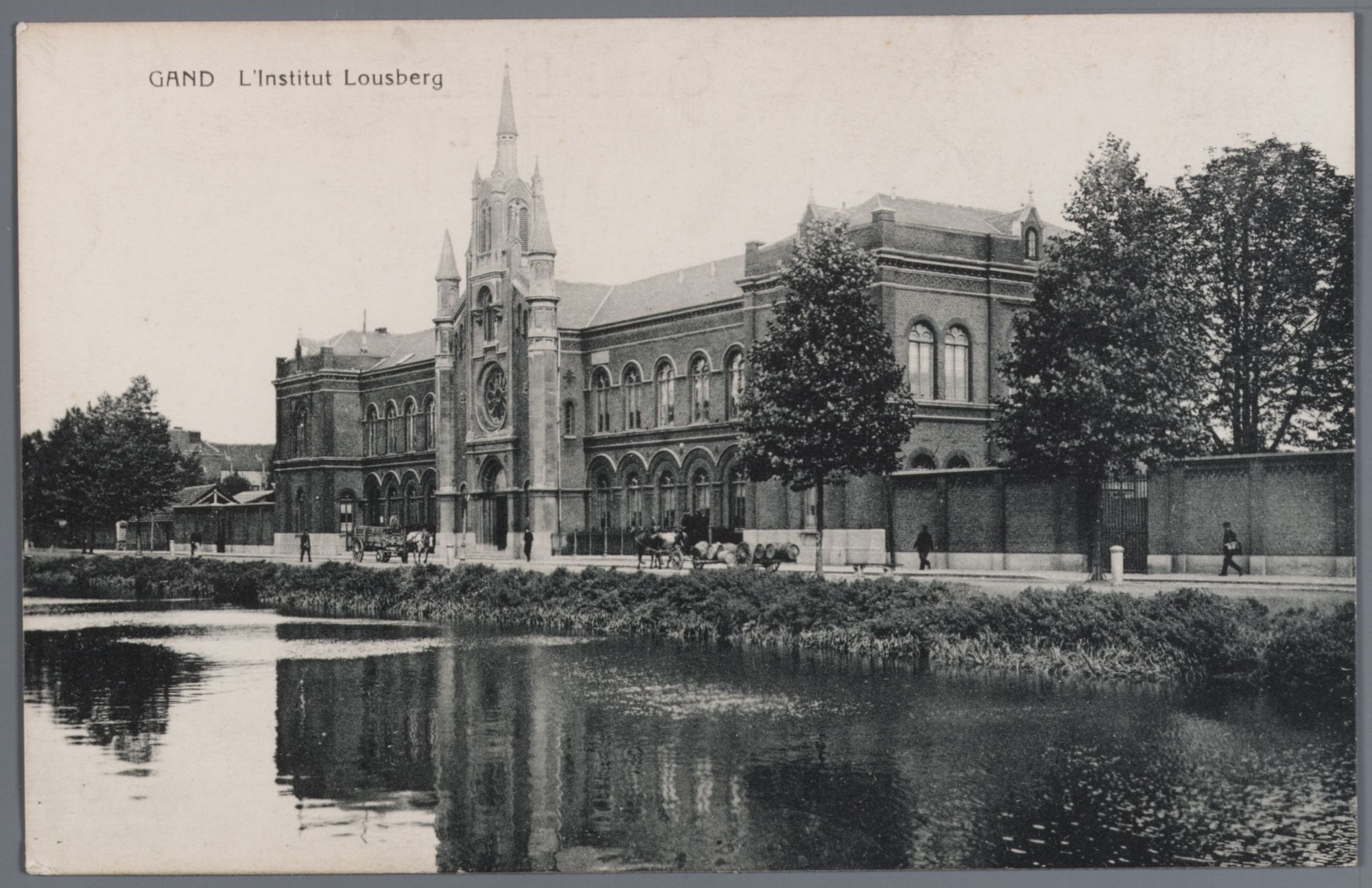 Gent: Ferdinand Lousbergskaai: Lousbergsgesticht (rusthuis), voor 1909