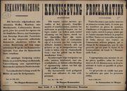Bekanntmachung   Kennisgeving   Proclamation.