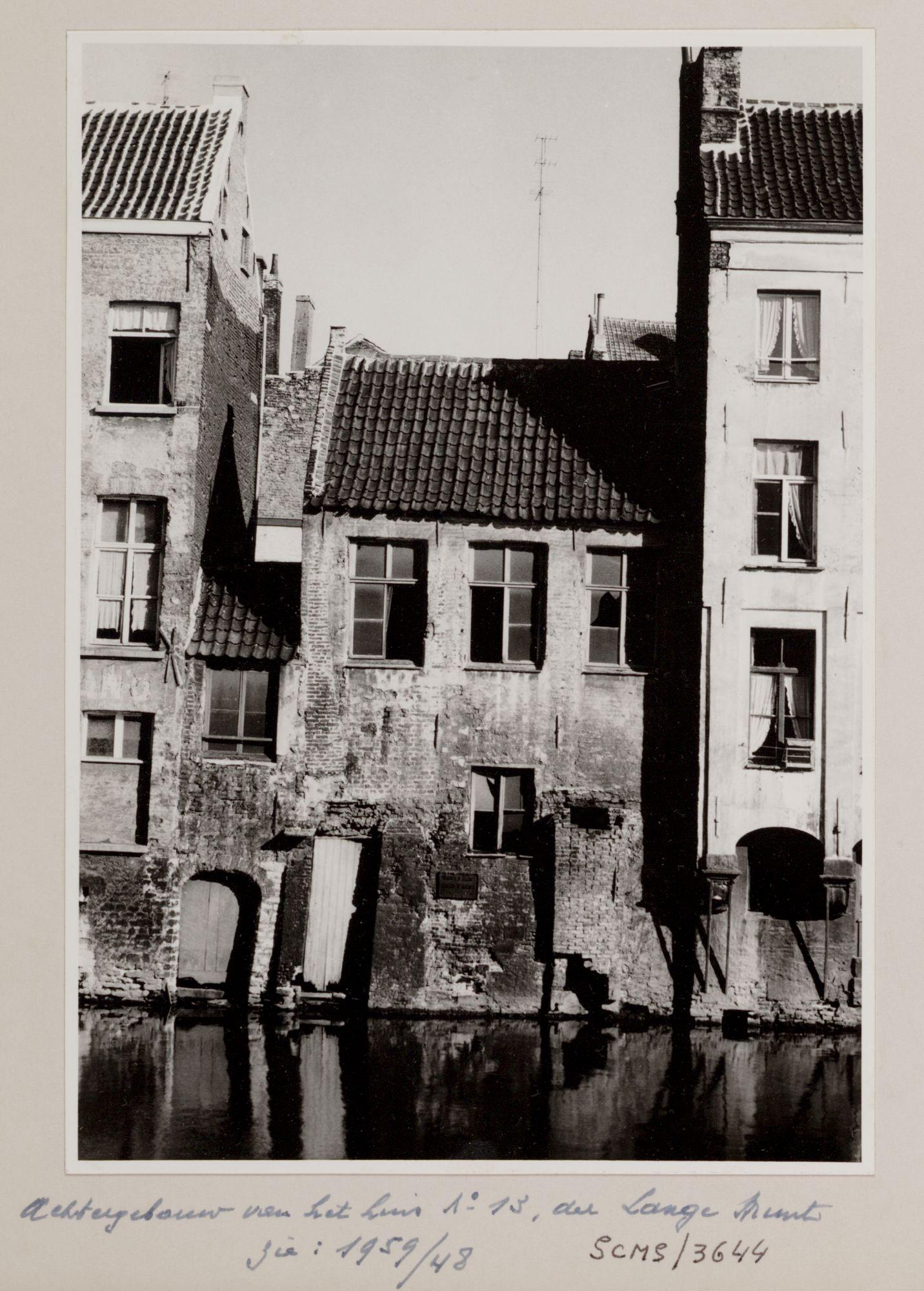 Gent: Leie en achtergevel van Langemunt 13