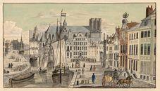 Gent: Korenlei, Sint-Michielsbrug en Sint-Michielskerk