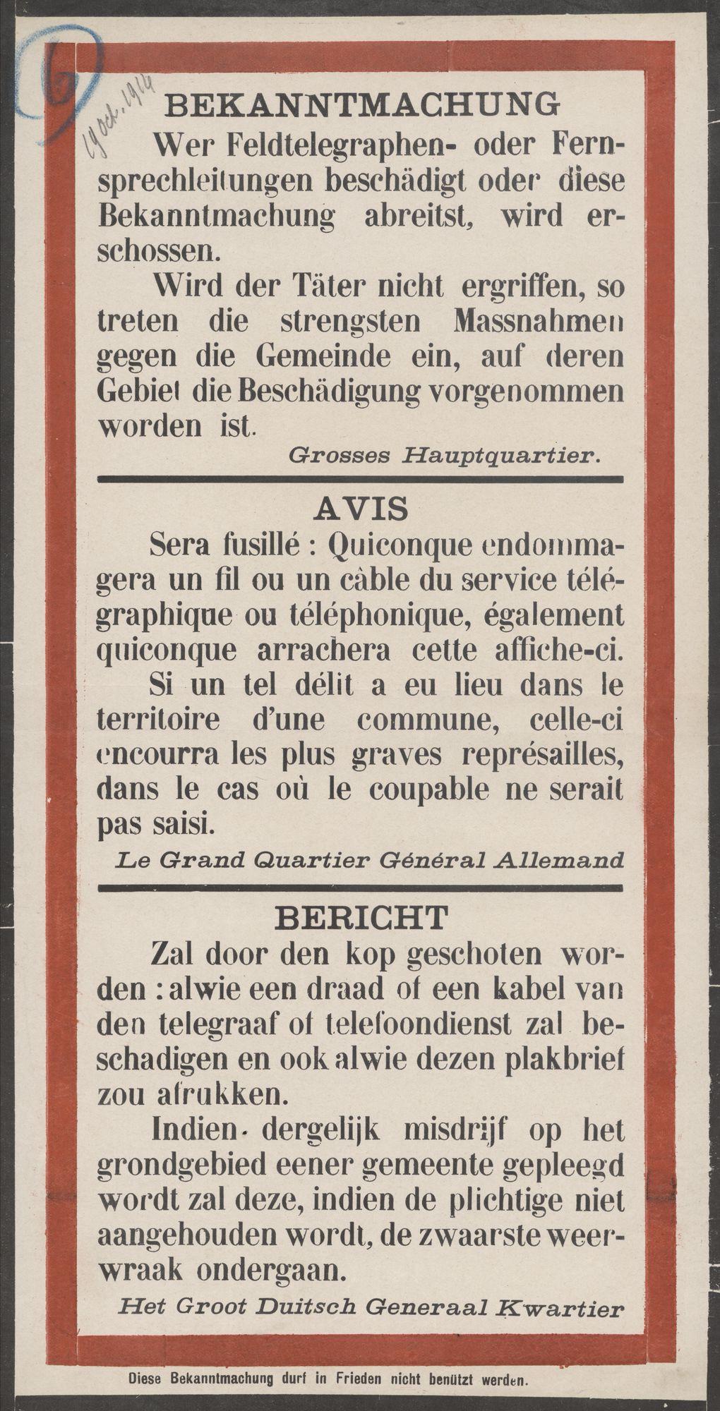 Bekanntmachung   Avis   Bericht.