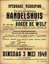 Openbare verkoop van een zeer goedgelegen handelshuis te Sint-Amandsberg, Dendermondsesteenweg, nr.232, Gent, 3 mei 1949